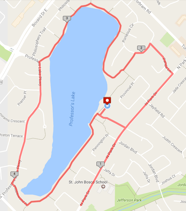 Map of the run on MapMyRun.com